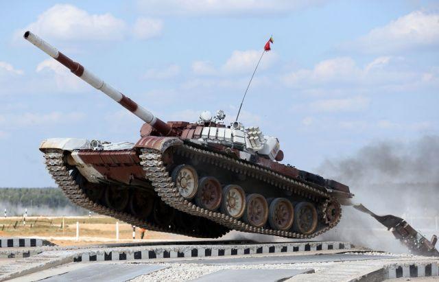 Ставропольские танкисты готовятся к танковому биатлону