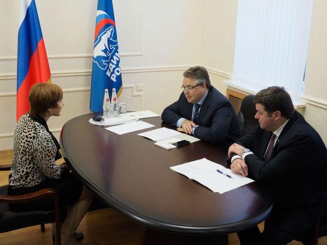 Глава Ставропольского края провёл личный приём граждан