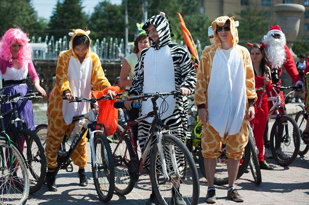 Ряженые велосипедисты проедут поСтаврополю вДень города