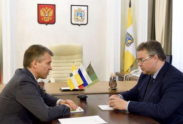 Губернатор Ставрополья встретился с председателем правления «Россельхозбанка»