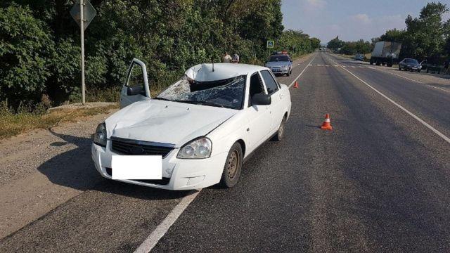 В Ставропольском крае водитель легковушки насмерть сбил пенсионера
