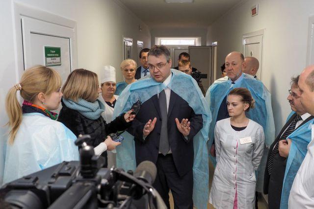 Губернатор края проверил качество капремонта, проведённого в Благодарненской райбольнице