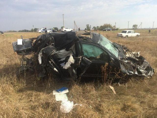 На Ставрополье в аварии погиб 55-летний водитель иномарки