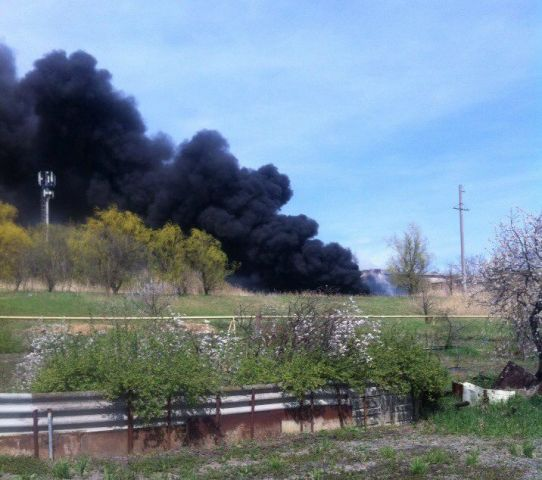 Ставропольцы заметили на Старомарьевском шоссе густой чёрный дым