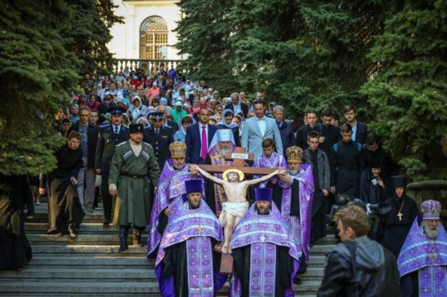 Крест, освящённый в Иерусалиме, пронесут по улицам Ставрополя