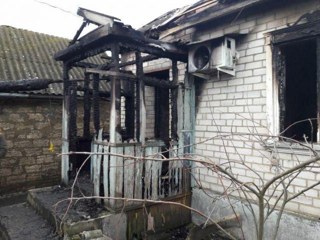 На Ставрополье сгорел частный дом