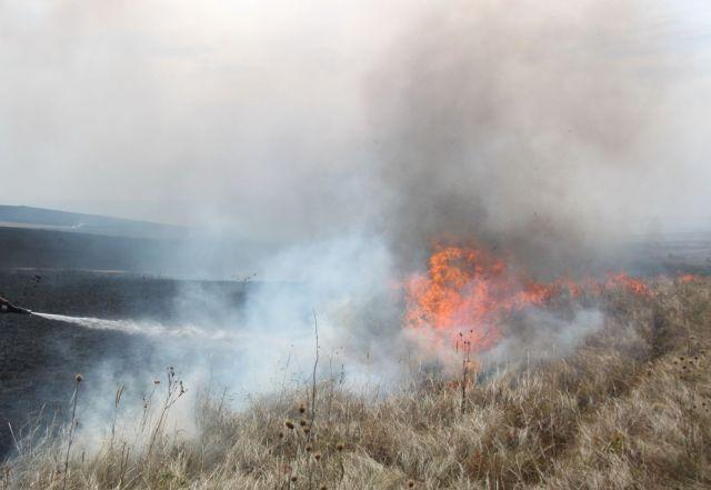 На Ставрополье пожарные спасли от возгорания населённый пункт