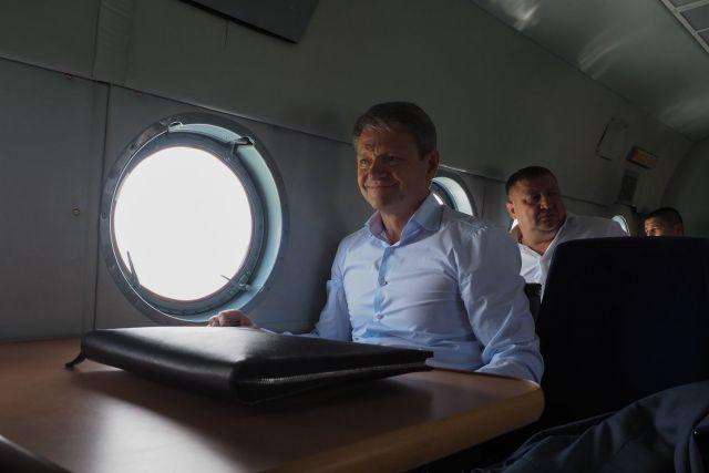 Глава Минсельхоза РФ Александр Ткачёв совершил облёт полей Ставрополья
