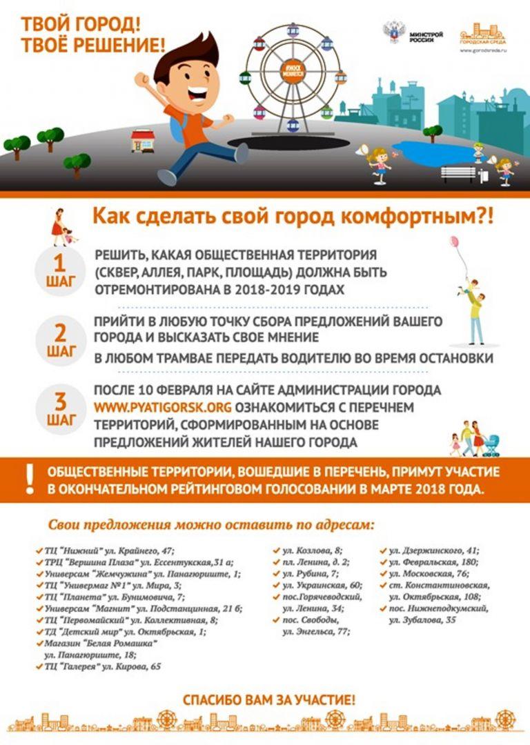 В трамваях и торговых центрах Пятигорска можно внести предложения по благоустройству города