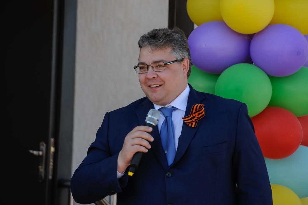 Открытие детсада вКурском районе посетил губернатор Владимиров