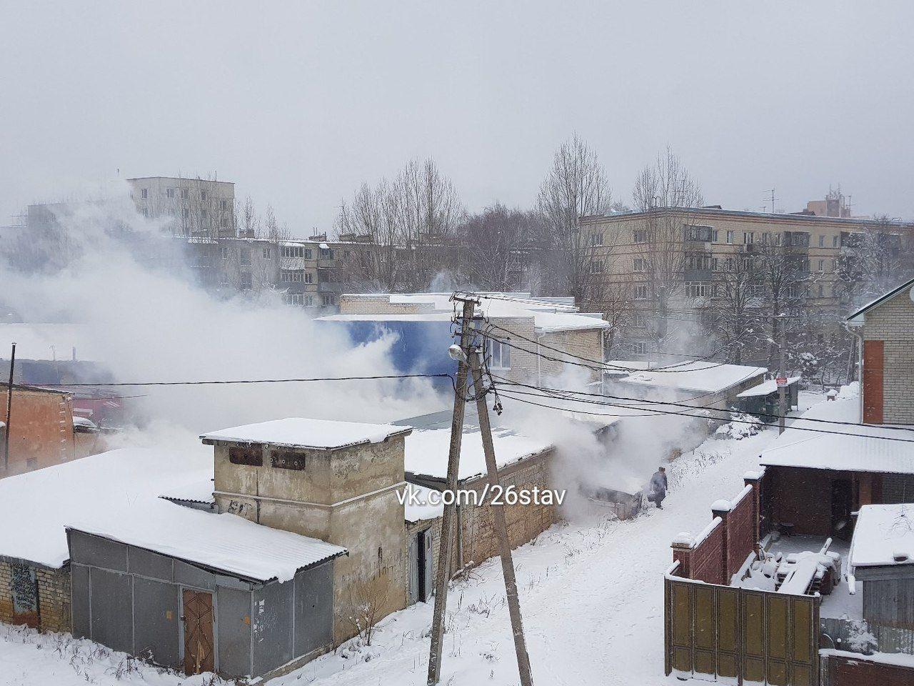 В Ставрополе загорелся гараж