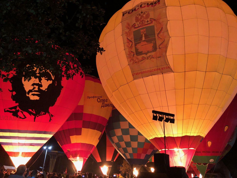 Ночным свечением в Железноводске завершился юбилейный фестиваль воздухоплавания