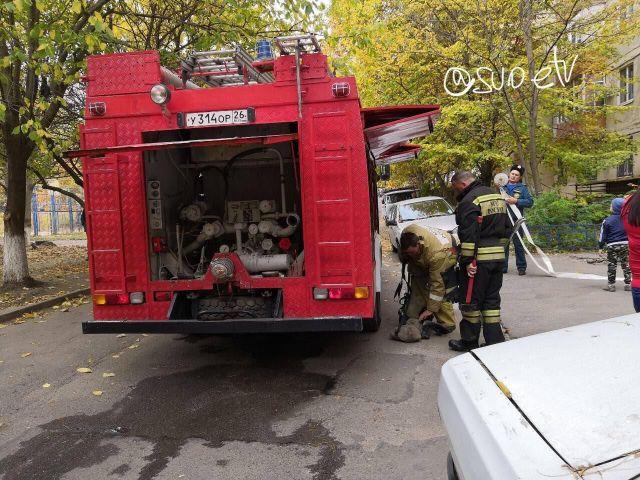 В Ставрополе в многоквартирном доме произошёл пожар