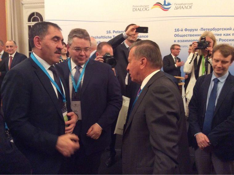 Путин поприветствовал участников российско-германского форума «Петербургский диалог»