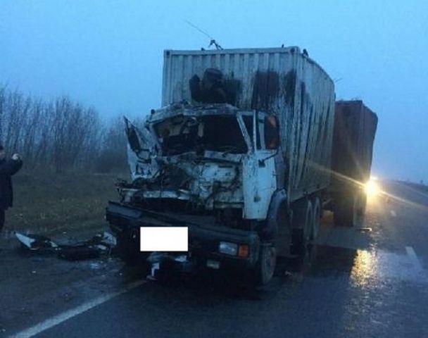 На Ставрополье водитель грузовика врезался в стоящий на обочине автомобиль