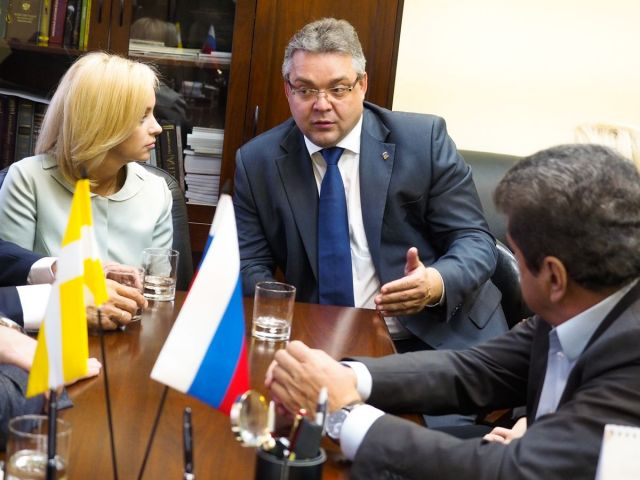 Губернатор встретился с депутатами Госдумы от Ставрополья