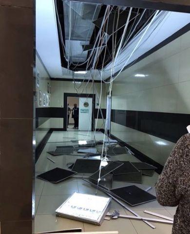 В торговом центре Ставрополя рухнул потолок