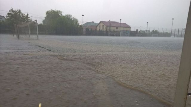 В Ставрополе после сильного ливня затопило район Ташлы