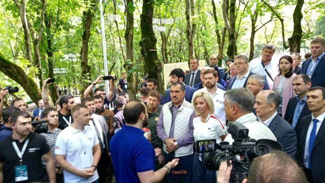 Губернатор Ставрополья, Рамзан Кадыров,  Юнус-бек Евкуров и другие VIP-гости прибыли на «Машук-2018»