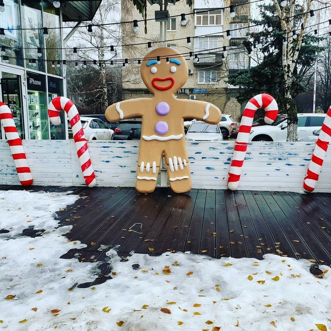 В Ставрополе появился огромный пряничный человечек