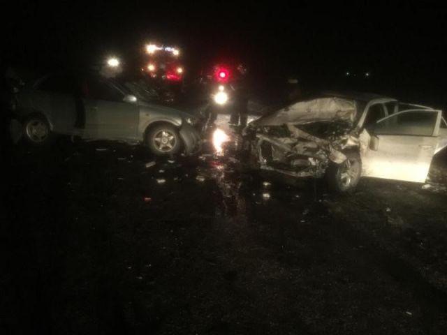 На Ставрополье в ДТП с тремя легковушками погиб пожилой водитель