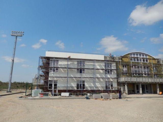 Тренировочное футбольное поле приобретает в Кисловодске всё более совершенные очертания