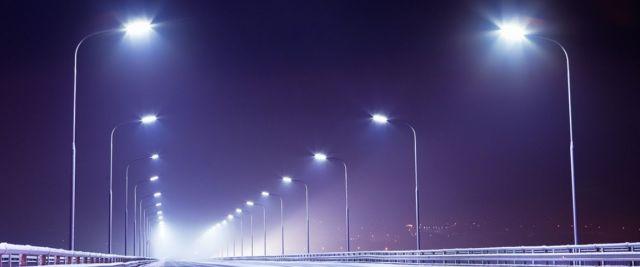 На участке автодороги «Сенгилеевское — Новотроицкая» установлено искусственное электроосвещение