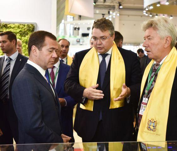 Дмитрий Медведев посетил ставропольский стенд на выставке «Золотая осень-2017»