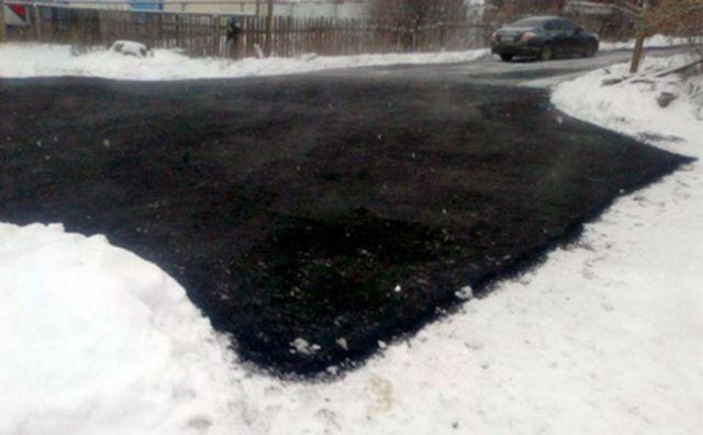 ОНФ: На Ставрополье продолжают класть асфальт в снег