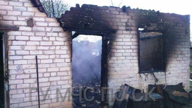 При пожаре в селе Казьминском погиб человек