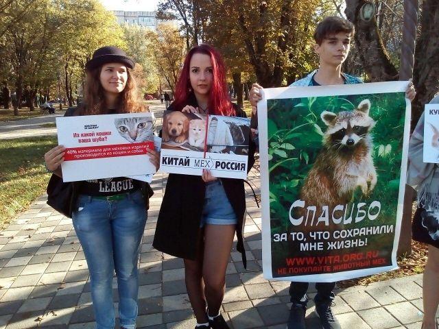 В Ставрополе активисты провели акцию «Животные не одежда»