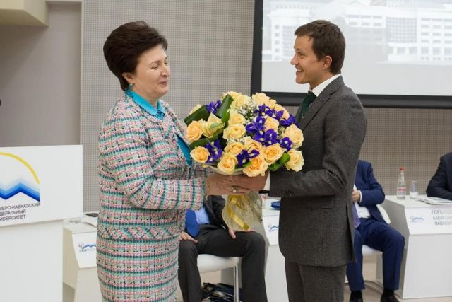 Ректор СКФУ выступила с докладом о развитии вуза