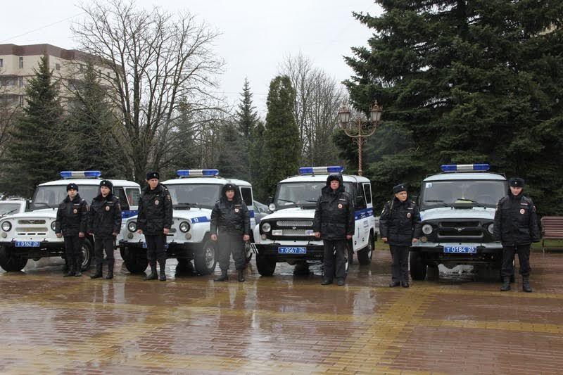 Строевой смотр иинструктаж нарядов милиции состоялся вСтаврополе