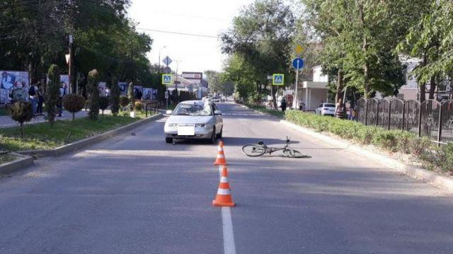На Ставрополье водитель легковушки сбил несовершеннолетнего велосипедиста