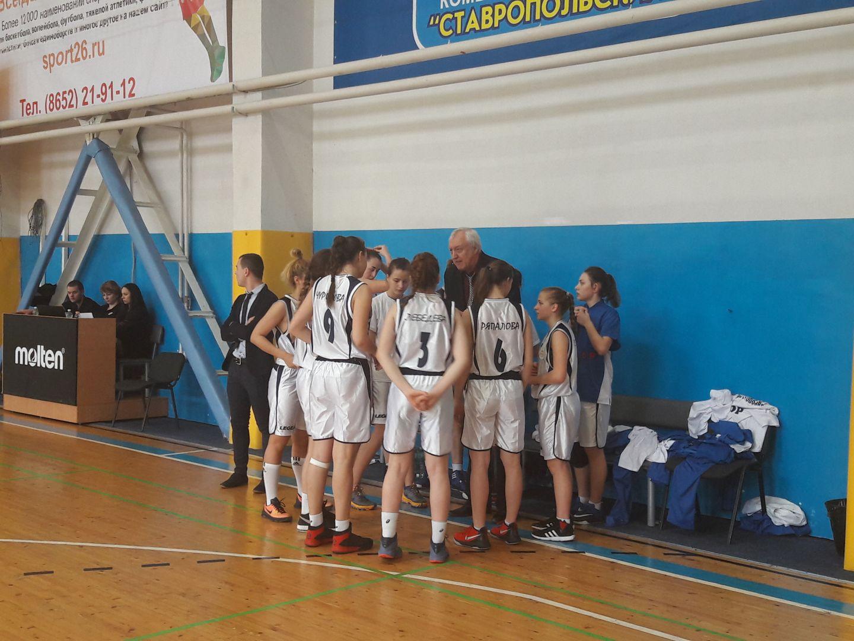 Ставропольские баскетболистки заняли лидирующие позиции в турнирной таблице