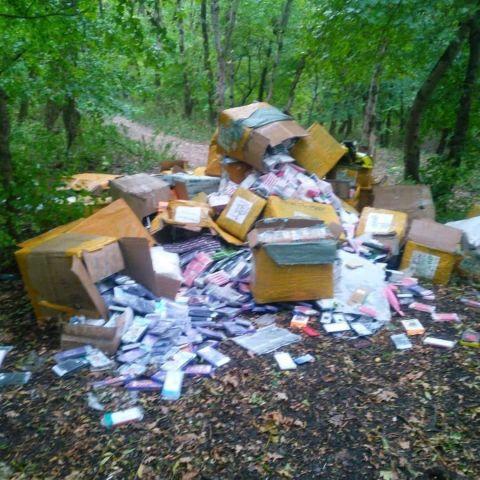 Свалку новых чехлов на телефоны обнаружили в лесу Пятигорска