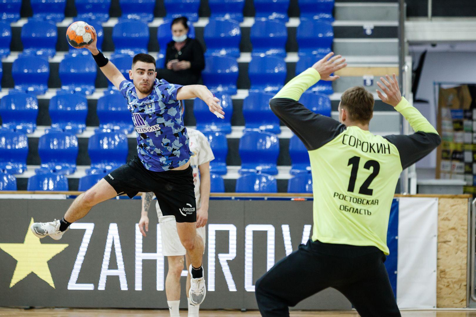 Гандбольный клуб Ставрополя одержал победу в очередном матче чемпионата России в мужской Суперлиге