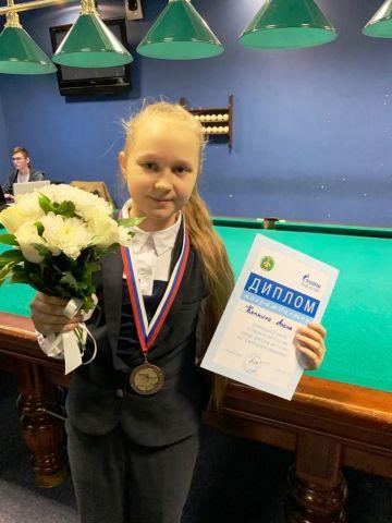 11-летняя бильярдистка из Ставрополя стала бронзовым призёром первенства страны