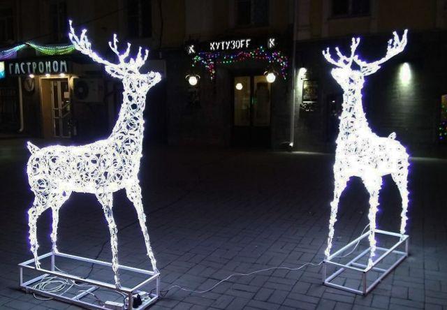 В Ставрополе установили множество арт-объектов к Новому году