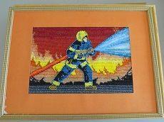 Поделки на пожарную тематику из крупы