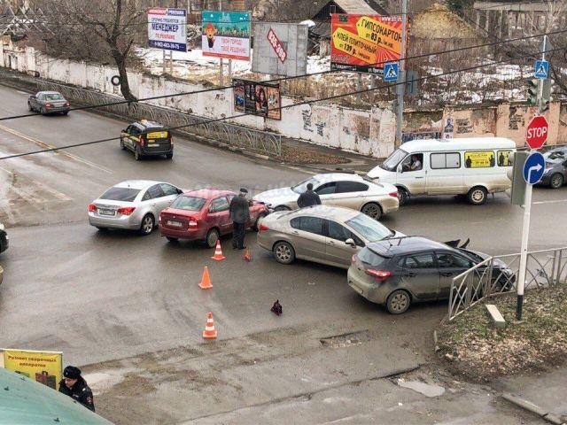 В Ставрополе произошло двойное ДТП