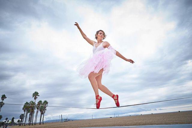 Ставропольчанка установила рекорд Гиннеса в Лос-Анджелесе, пройдя по слэклайну в пуантах