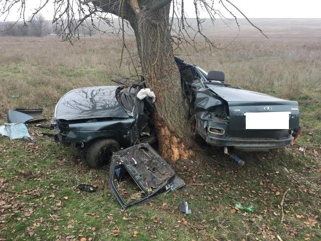 На Ставрополье «Лада Приора» врезалась в дерево: водитель погиб
