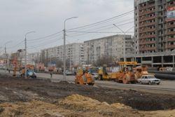 Мэр лично проинспектировал ход ремонтных работ на перекрестке