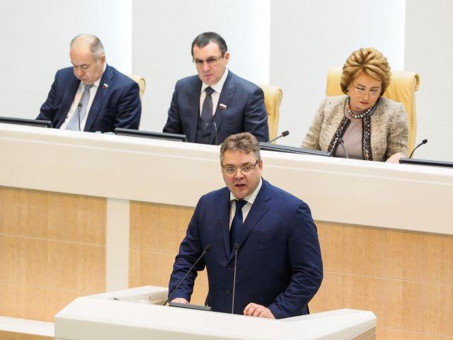 Глава Ставрополья выступил на заседании Совета Федерации РФ