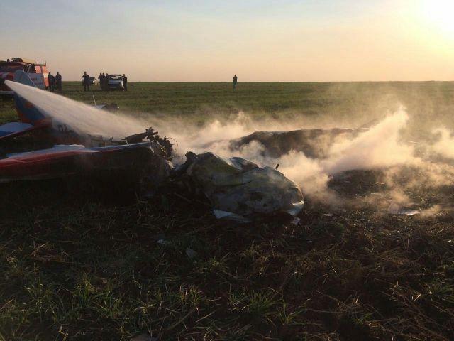 В Ставропольском крае упал легкомоторный самолёт