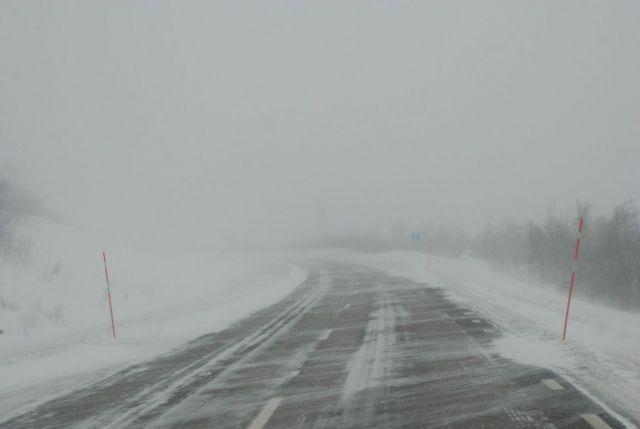 Ставропольские трассы засыпает снегом