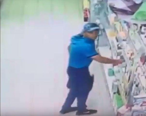 Камера видеонаблюдения запечатлела кражу в одном из магазинов Ставрополя