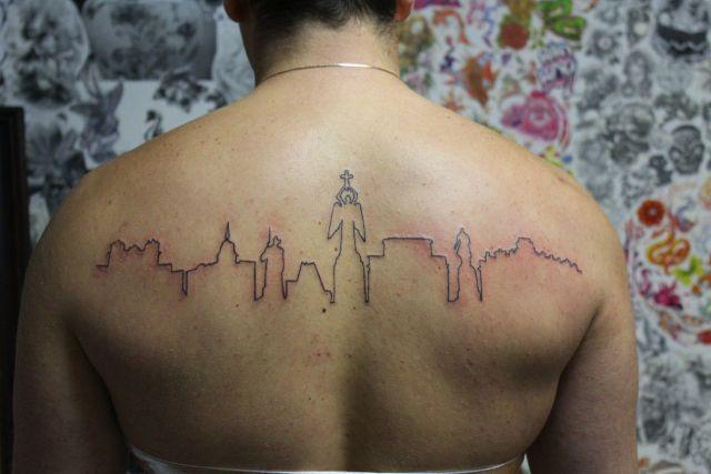 Житель Ставрополя сделал татуировку, посвящённую родному городу