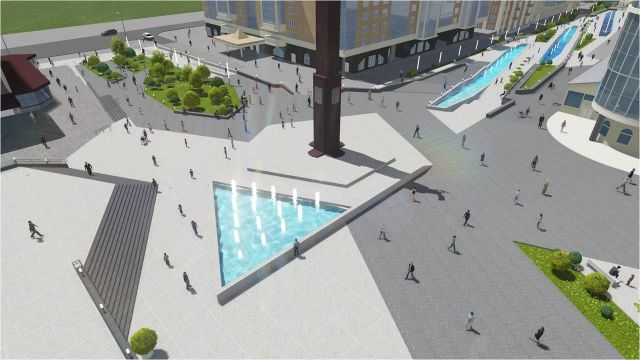 В Ставрополе продолжается работа над проектом нового сквера в центре города